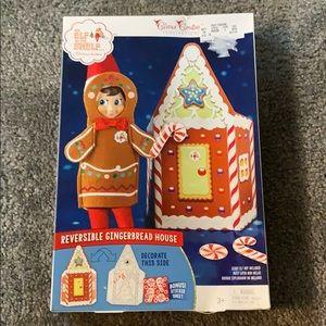 Elf on the shelf reversible gingerbread house